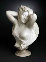 Night Cesare Lapini, Italian, 1898 White marble.