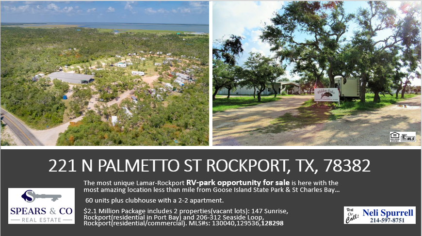 RV PARK FOR SALE IN ROCKPORT CLICK HERE