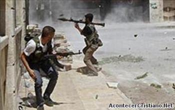 Rebeldes sirios atacan cristianos