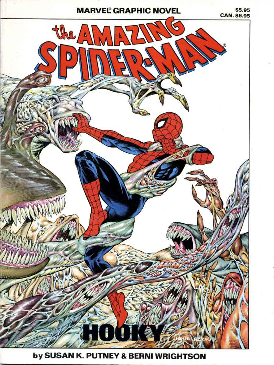 Book Cover Graphism Novels : Amazing spider man hooky graphic novel bernie wrightson
