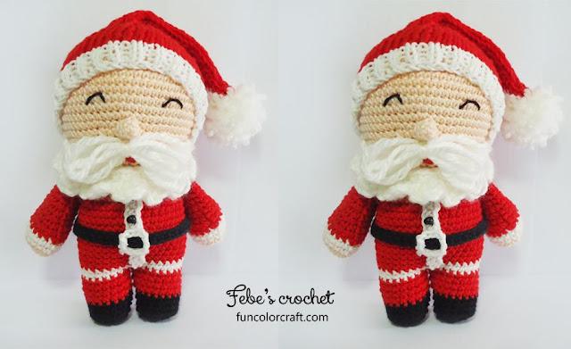 Santa Amigurumi Crochet Pattern Free