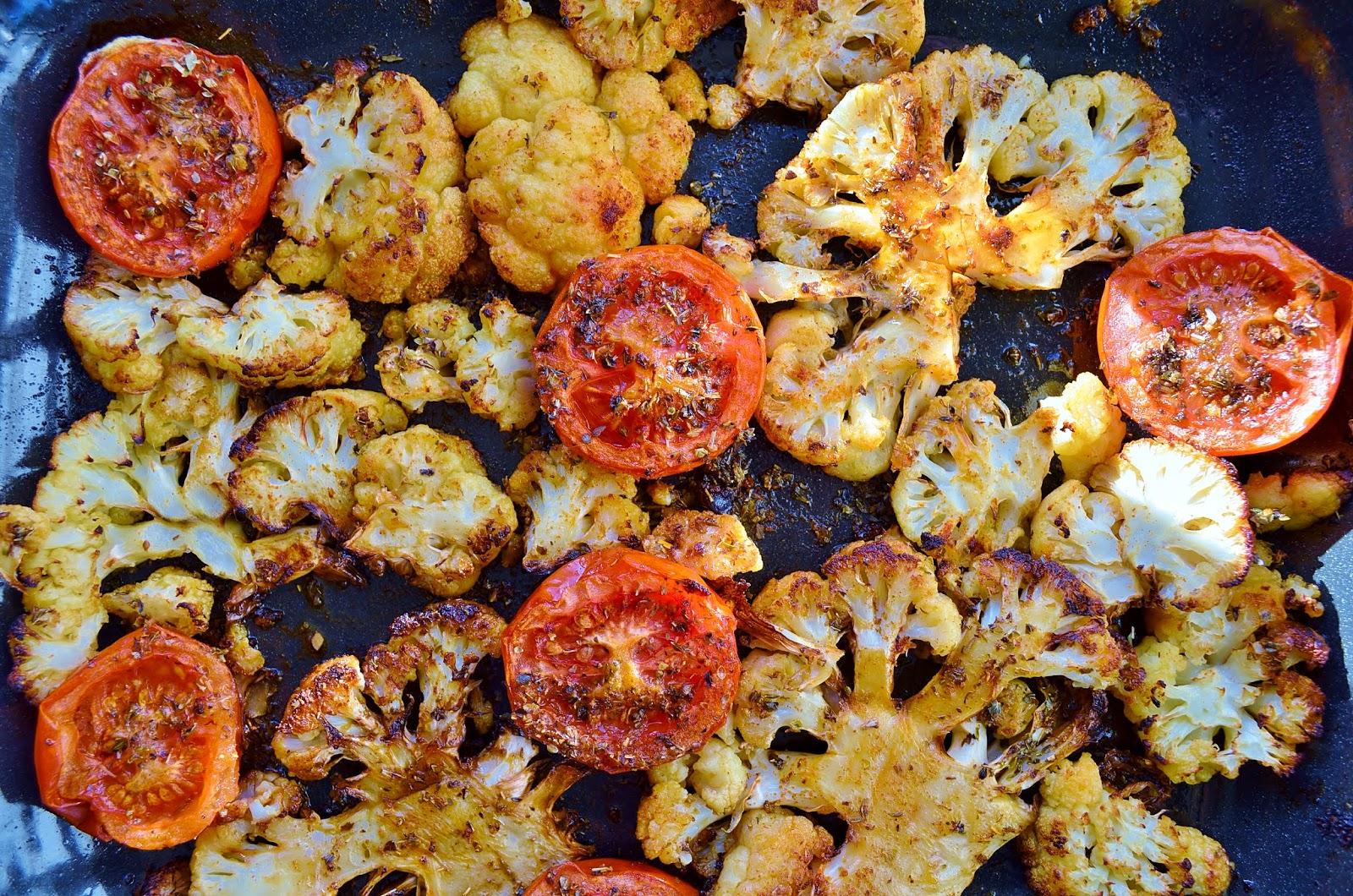 Roasted Cauliflower with Paprika and Oregano