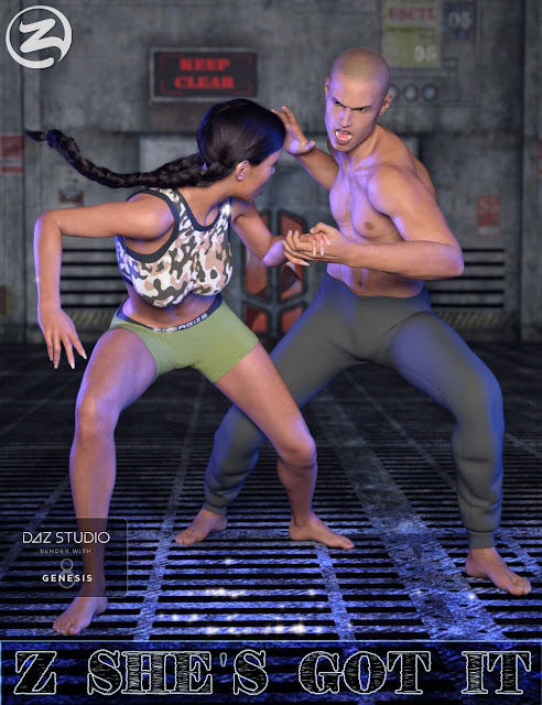 Z She's Got It - Combat Poses for Genesis 3 and 8