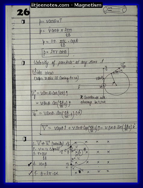 Magnetism Notes IITJEE 1