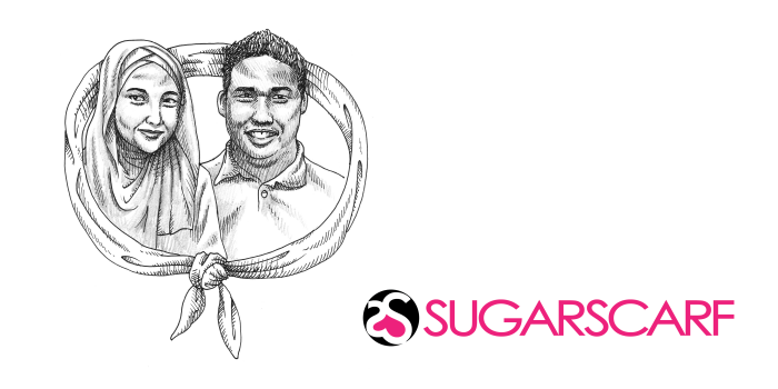 Sugarscarf founders - Joe & Eyqa