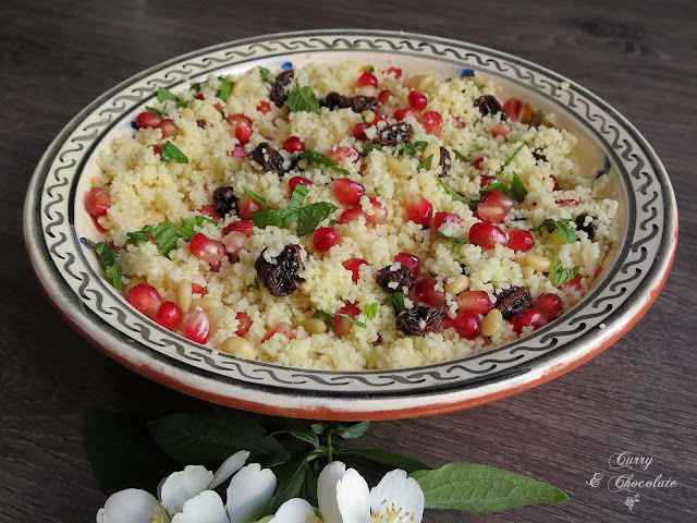 Ensalada de cuscús con granada – Couscous and pomegranate salad