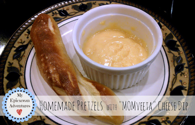 Homemade pretzels and Homemade Velveeta (aka MOMveeta) Cheese Dip