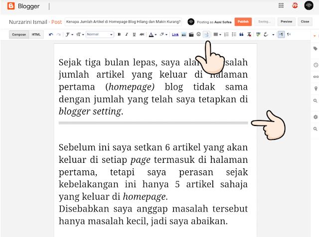 Kenapa Jumlah Artikel di Homepage Blog Hilang