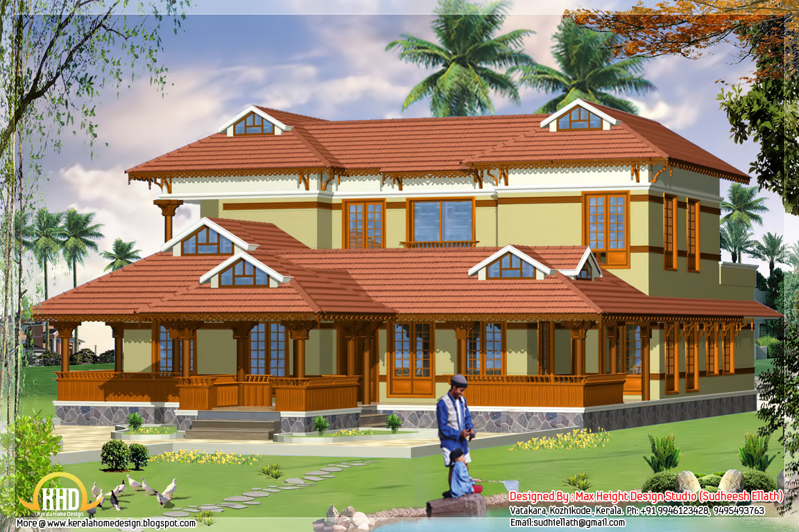 6 different indian house designs kerala home design and for Traditional house plans in kerala