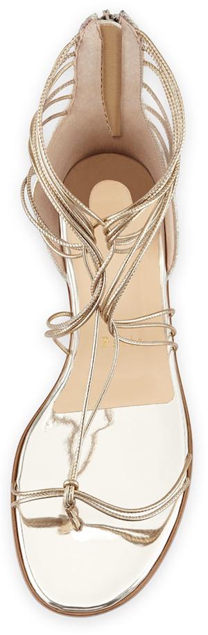 Christian Louboutin Blanca Metallic Gladiator Sandal