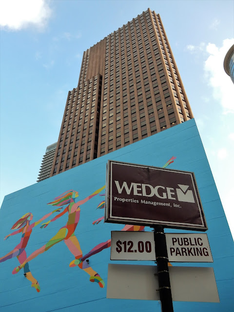 WEDGE Properties Management, Inc (sign) with mural