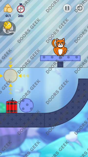 Hello Cats Level 28 Solution, Cheats, Walkthrough 3 Stars for Android and iOS