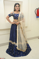 Niveda Thomas in Lovely Blue Cold Shoulder Ghagra Choli Transparent Chunni ~  Exclusive Celebrities Galleries 049.JPG