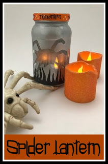 Make a Halloween lantern from a jam jar