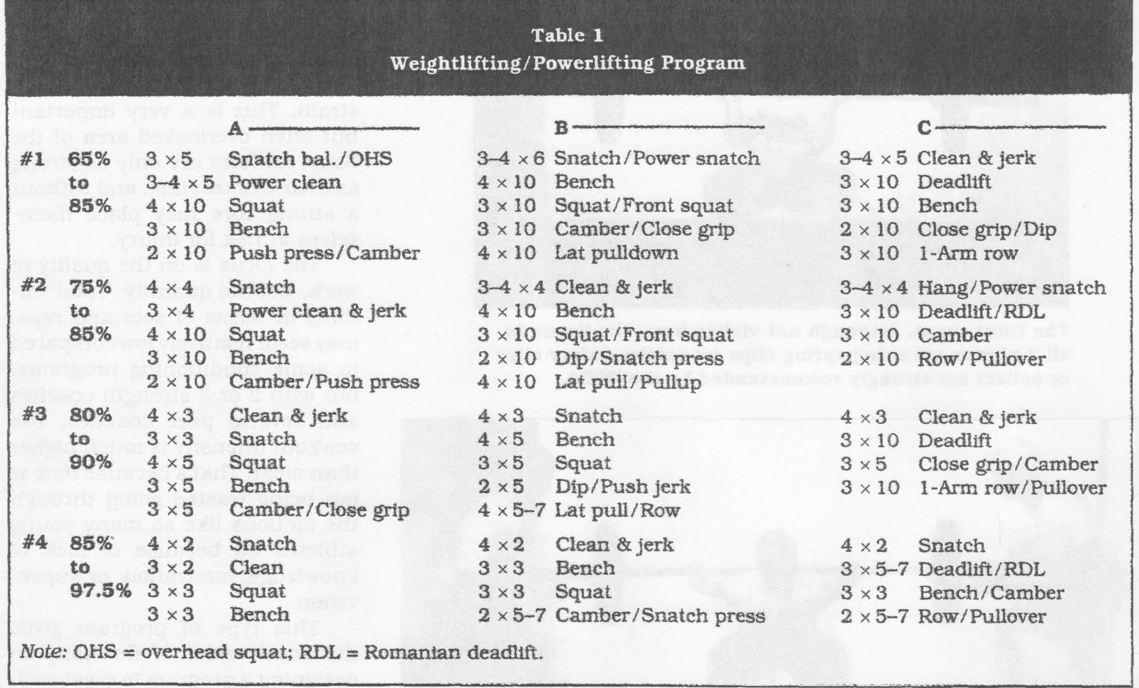 Building A Weight Lifting Plan