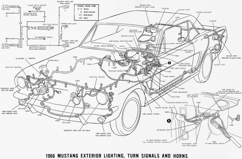 95 Mustang Gt Alternator Wiring Diagram Travel Trailer Inverter Lelu 39s 66 Fog Lights Emergency Flashers Sound