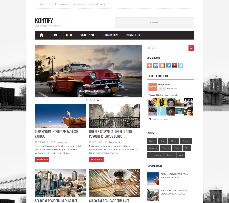 Kontify Magazine Blogger Template | Blogger Templates Gallery