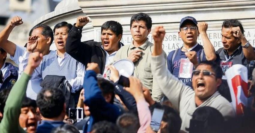 PEDRO CASTILLO AVANZA: Preparan inscribir su propio sindicato y quitarle la representatividad nacional al SUTEP