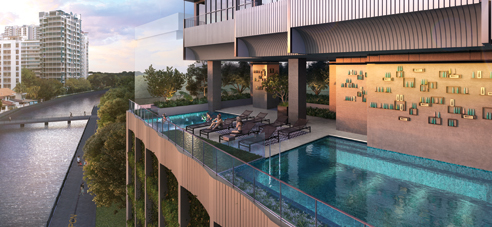 Jui Residences - Swimming Pool Deck