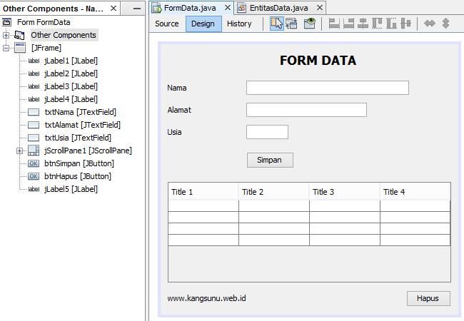 Cara Menambahkan Data ke JTable dengan ArrayList