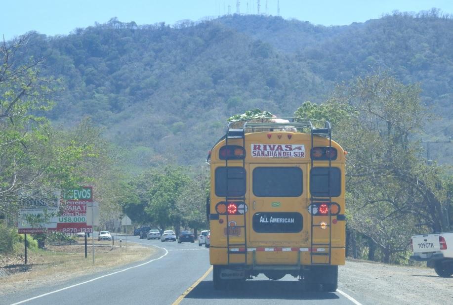 Autobus para San Juan del Sur
