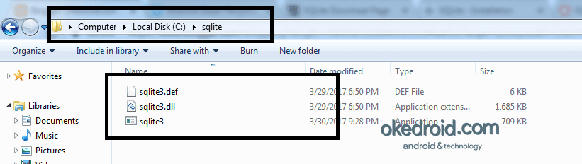 how to open sqlite file in windows 7