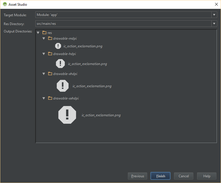 how to create a new icon in android studio