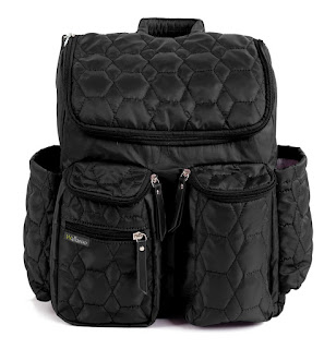 Wallaroo Diaper Bag Backpack with Stroller Straps, Wet Bag and Diaper Changing Pad - For Women and Men - BLACK - MEDIUM