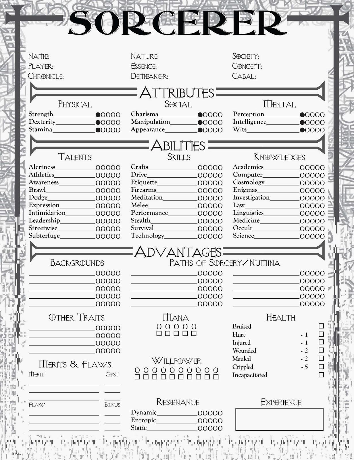 Sorcerer Revised em inglês