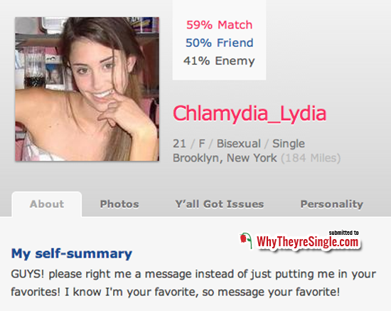 Dating profile political advertising
