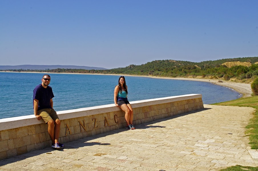 Couple at ANZAC Cove Gallipoli Turkey