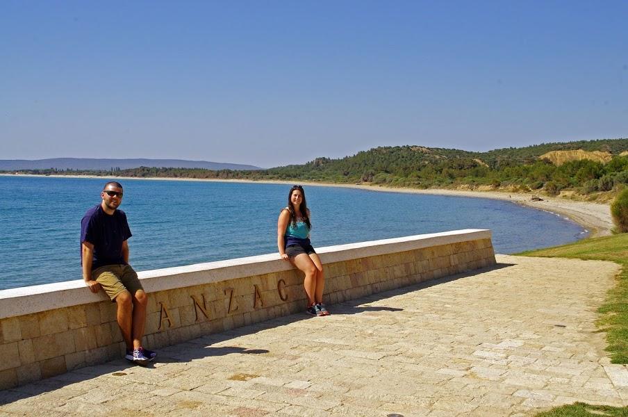 Couple at ANZAC Cove Gallipoli Turkey