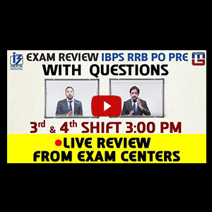 Exam Review With Cut Off | IBPS RRB PO PRE 2017 Shift - 3 & 4 Live From Exam Center