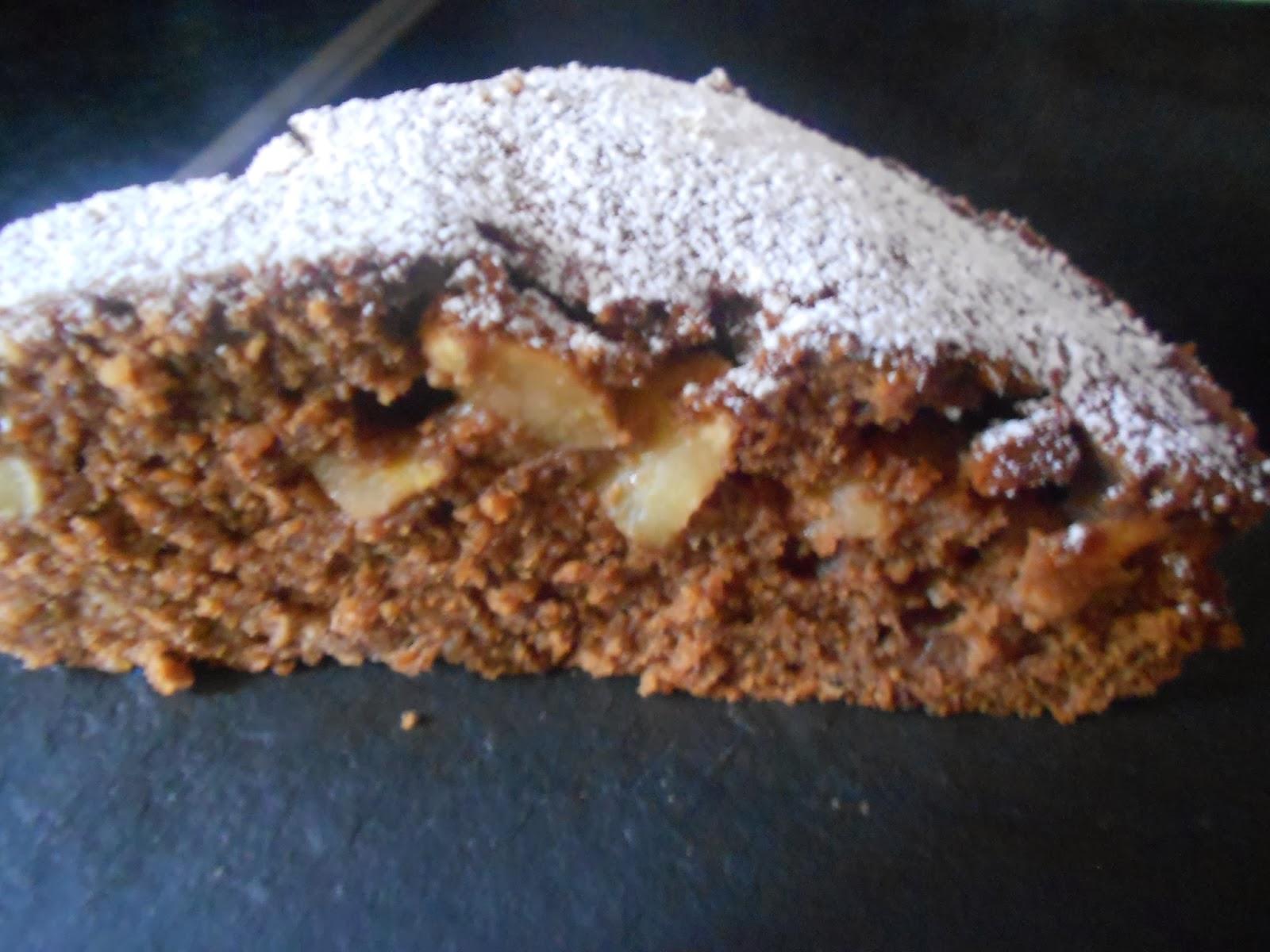 Verboten Gut Dinkel Schokoladenkuchen Mit Birnen