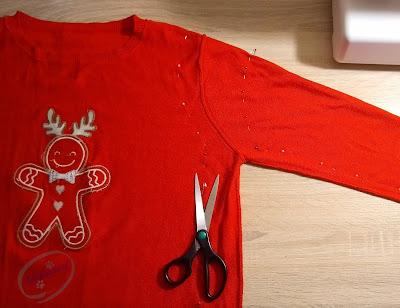 Adzik tworzy - zmniejszanie za dużego swetra DIY