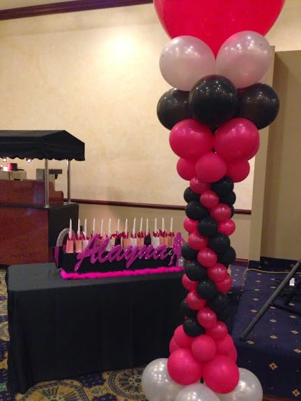 Balloon column and menorah candle holder