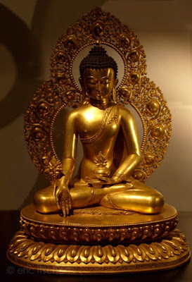 mandala, tibétain, bronze, image, lotus, bouddhisme, centre, bouddha, cercle