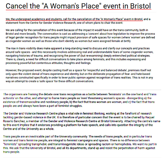 """Freedom of speech at the University of Bristol"" There is NOTHING Free about One Side"