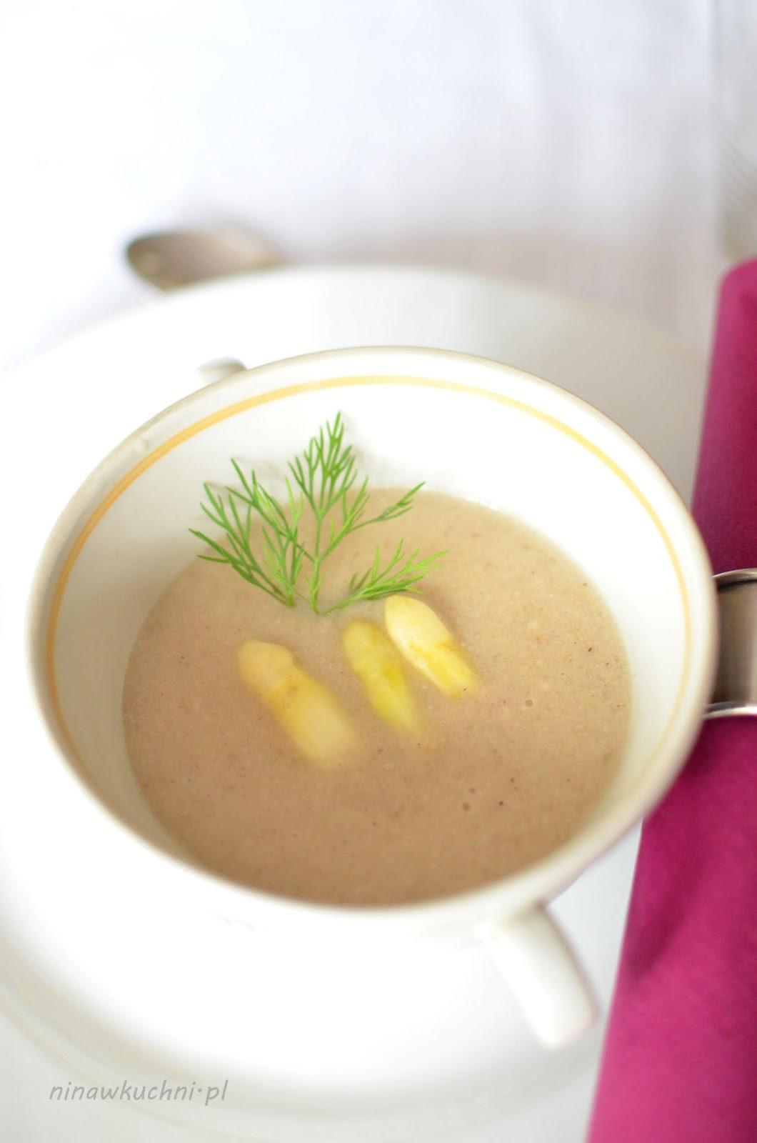 Nina W Kuchni Zupa Krem Z Bialych Szparagow Z Mlekiem Kokosowym