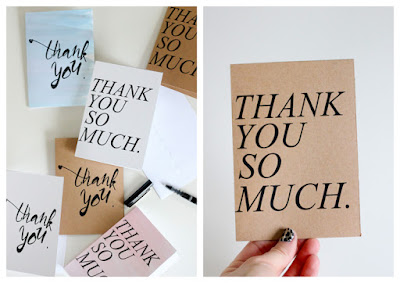 simple printable thank you cards