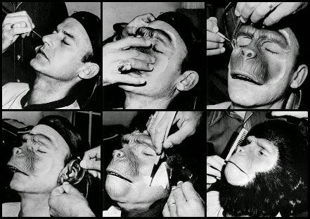 Maquillaje de Roddy McDowall para El planeta de los simios