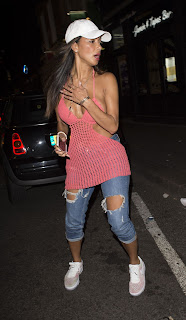 Nicole Scherzinger at the Freedom Bar in Soho London