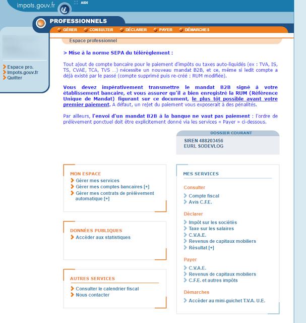 impot.gouv.fr : l'espace Pro