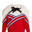 Gucci panther-appliqué wool sweater