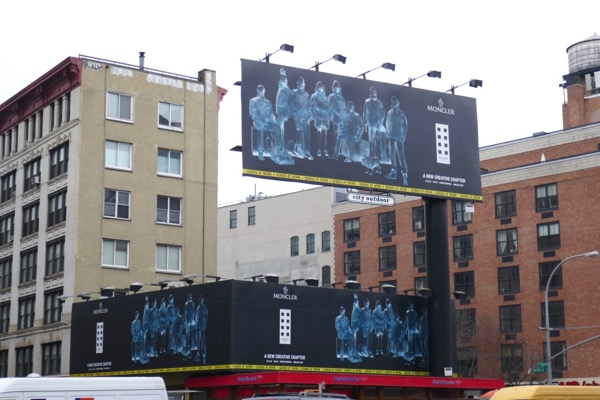 Moncler 2018 billboards Houston Street NYC