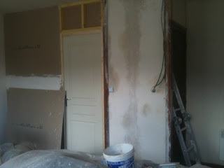 plastering a derelict house in france