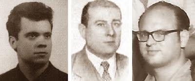 Los ajedrecistas Jaume Anguera, Agustín Ingelmo y Albert Perdigó