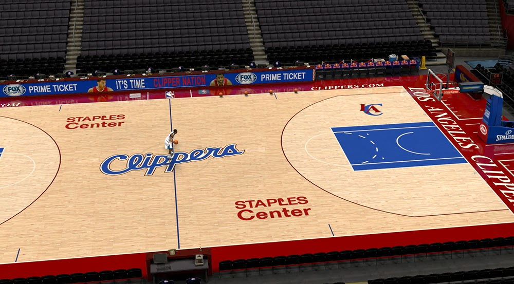Nba 2k14 Los Angeles Clippers Court Update Nba2k Org