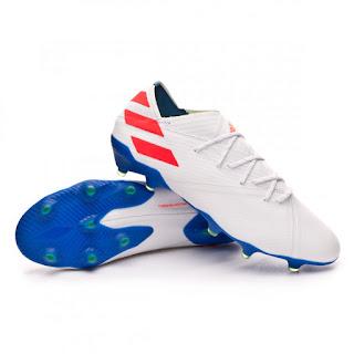 ADIDAS NEMEZIZ MESSI 19.1 FG White-Solar red-Football blue
