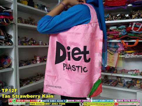 jual Tas Strawberry Kain